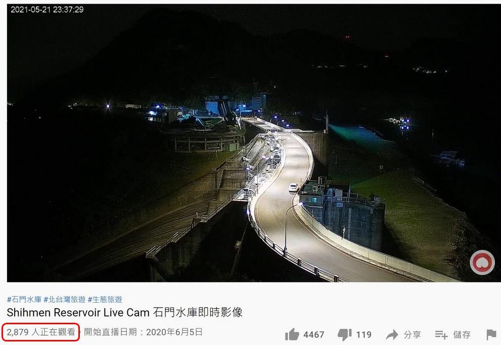 老天爺啊!下雨下在水庫吧!半夜將近3000人觀看石門水庫即時影像就等你下雨啊! @桃園起風了