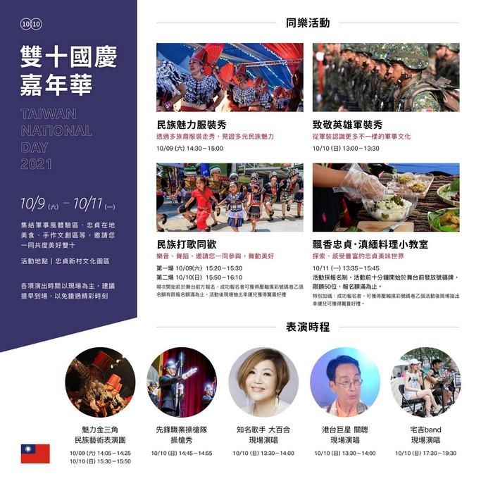 雙十國慶嘉年華(桃園魅力金三角商圈10/09~10/11) @桃園起風了